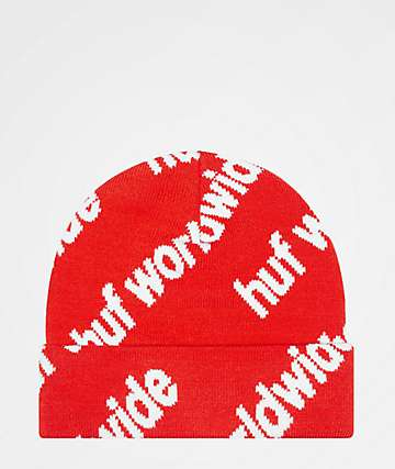 HUF Campaign Red Beanie