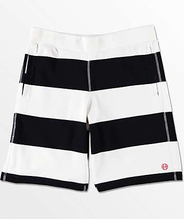 HUF Catalina Black Stripe Sweat Shorts