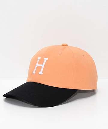 HUF Classic H  gorra strapback de color melocotón