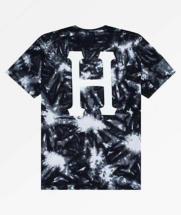 HUF Classic H Black & White Crywash T-Shirt