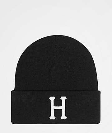 HUF Classic H Black Beanie
