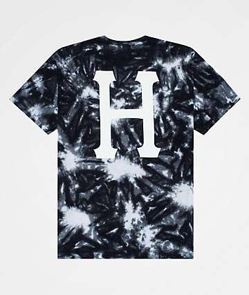 HUF Classic H Black Tie Dye T-Shirt
