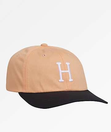 HUF Classic H Curved Peach Strapback Hat