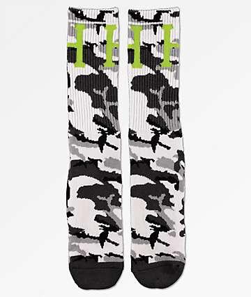 HUF Classic H Grey Camo Crew Socks