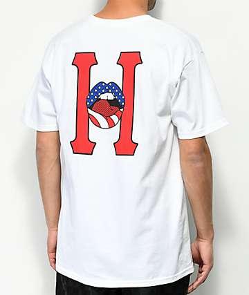 HUF Classic H Lips White T-Shirt