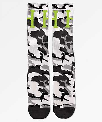 HUF Classic H calcetines de camuflaje gris