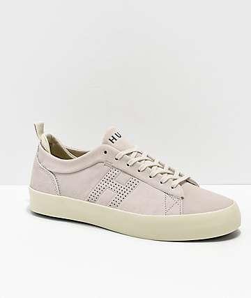 HUF Clive Bone zapatos de skate de ante blanco