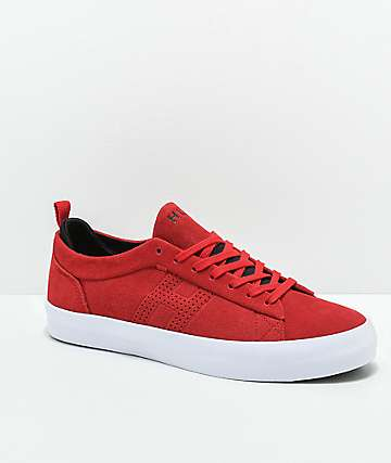 HUF Clive Red, White & Black Skate Shoes