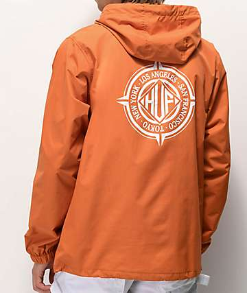 HUF Coordinates Orange Anorak Jacket