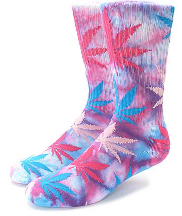 HUF Cotton Candy Plantlife Tie Dye Crew Socks