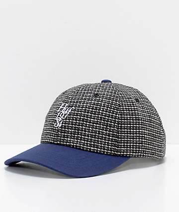 HUF Country Club Navy Wool Strapback Hat