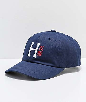 HUF Disaster Navy Strapback Hat