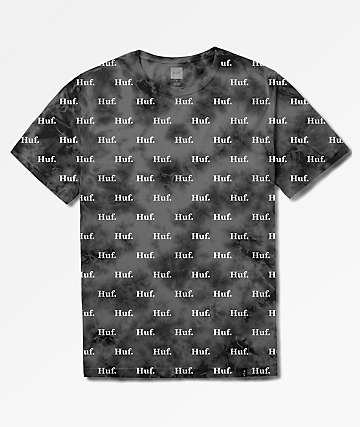 HUF Domestic Crystal Wash Black T-Shirt