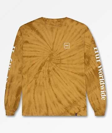 HUF Domestic Honey Mustard Tie Dye Long Sleeve T-Shirt