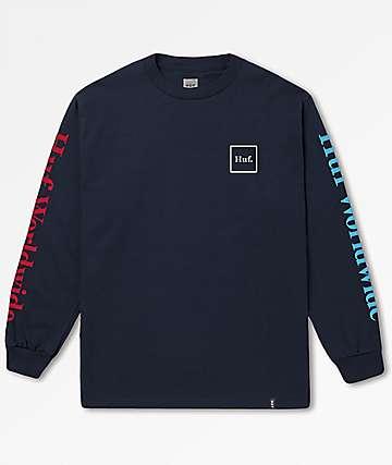 HUF Domestic Navy Long Sleeve T-Shirt