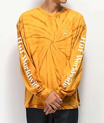 HUF Domestic Tie Dye Gold Longsleeve T-Shirt