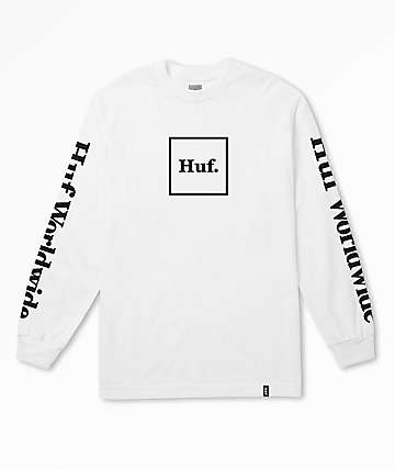 HUF Domestic White Long Sleeve T-Shirt