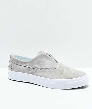 HUF Dylan Slip-On Ash & White Skate Shoes