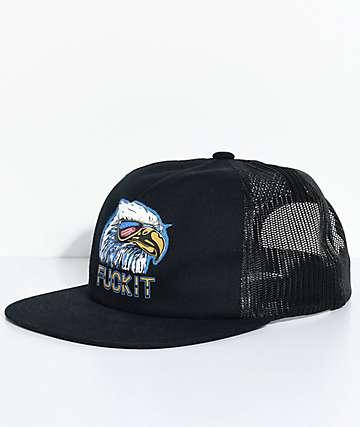 HUF Eagle gorra trucker en negro