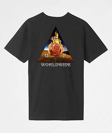 HUF Ember Rose Classic H Black T-Shirt