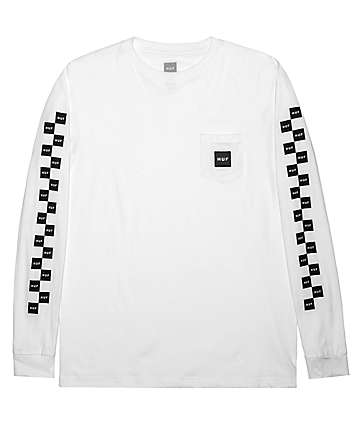 HUF Essentials Bunny Hop White Long Sleeve T-Shirt