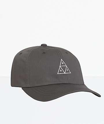 HUF Essentials Triple Triangle Black Strapback Hat