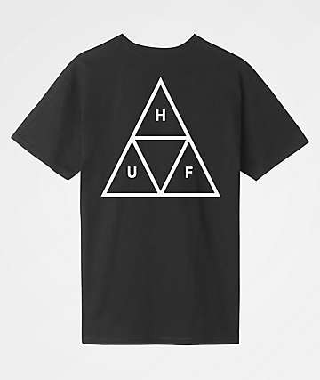 HUF Essentials Triple Triangle Black T-Shirt