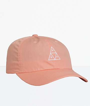 HUF Essentials Triple Triangle Coral Strapback Hat