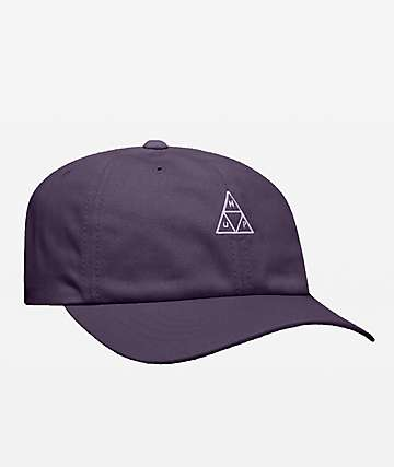 HUF Essentials Triple Triangle Purple Strapback Hat