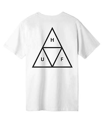 HUF Essentials Triple Triangle White T-Shirt