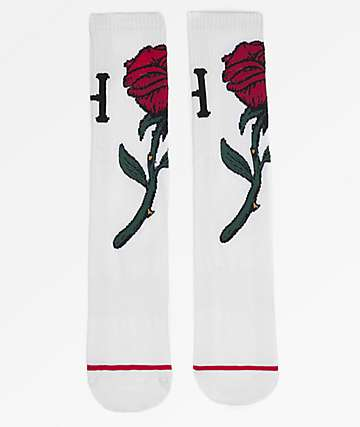HUF Farewell White Crew Socks