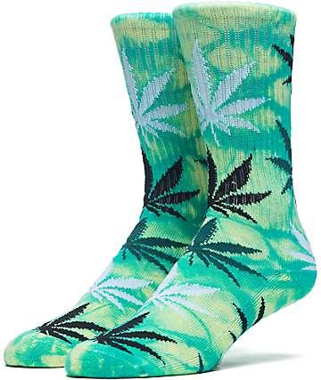 HUF Field Daze Plantlife Green Crew Socks