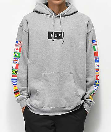 HUF Flags sudadera con capucha gris