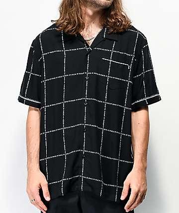 HUF Fuck It Black Short Sleeve Button Up Shirt
