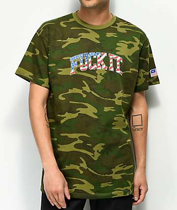HUF Fuck It Flag Camo T-Shirt