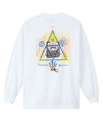 HUF Full Frequency White Long Sleeve T-Shirt