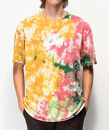 HUF Further Orange Tie Dye T-Shirt