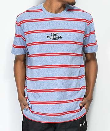 HUF Golden Gate camiseta azul de rayas