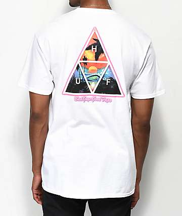 HUF Good Trips Triangle White T-Shirt