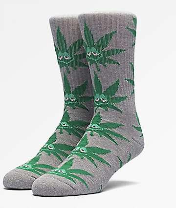HUF Green Buddy Grey Crew Socks
