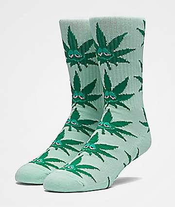 HUF Green Buddy Mint Crew Socks