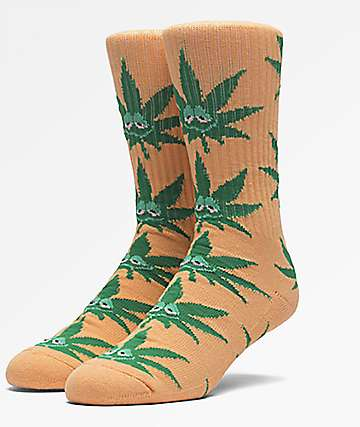 HUF Green Buddy Orange Crew Socks