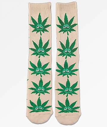 HUF Green Buddy calcetines de color beis