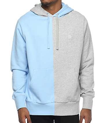 HUF Henry sudadera con capucha en gris y azul