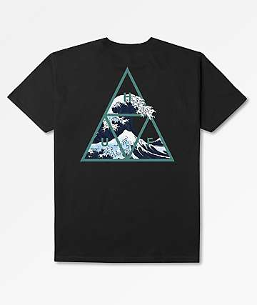HUF High Tide Triangle Black T-Shirt