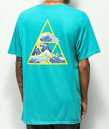 HUF High Tide Triple Triangle Turquoise T-Shirt
