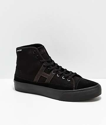 HUF Hupper 2 Hi All Black Skate Shoes