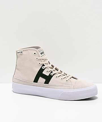 HUF Hupper 2 Hi Light Grey, Green & White Skate Shoes