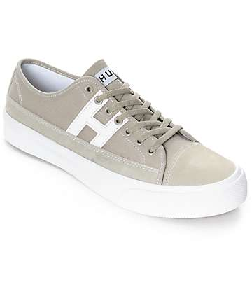 HUF Hupper 2 Lo Aluminum & White Skate Shoes