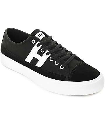 HUF Hupper 2 Lo Black & White Skate Shoes